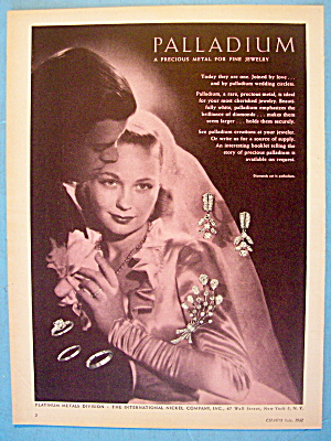 1951 Palladium Metal For Jewelry with Bride & Groom (Image1)