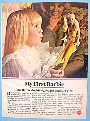 1981 My First Barbie Doll with Little Girl Holding Doll (Image1)