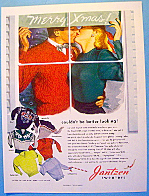 1948 Jantzen Sweaters with Man & Woman Kissing (Image1)