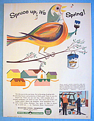 1956 Weirton Steel Company With Colorful Bird (Image1)