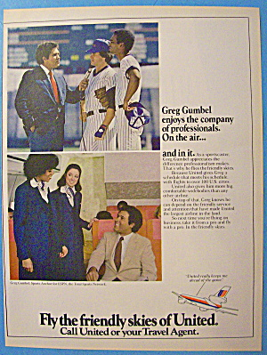 1973 United Airlines With Greg Gumbel (Image1)