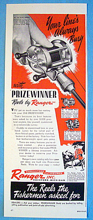 1948 Ranger Reels With Blue Ribbon Reel (Image1)