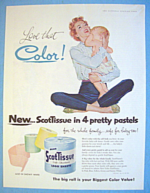 1956 Scott Tissue With Woman And Baby (Image1)