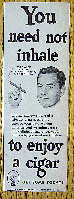 1951 Cigar Institute With Don Taylor
