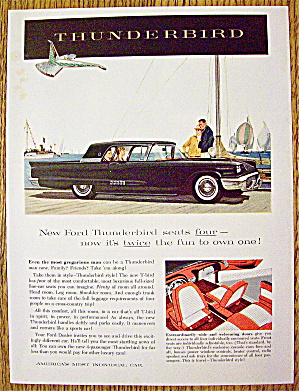 1958 Ford Thunderbird With Four Seats