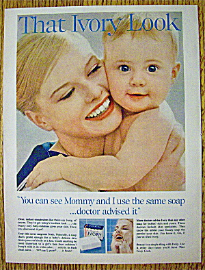1960 Ivory Soap With Woman And Baby