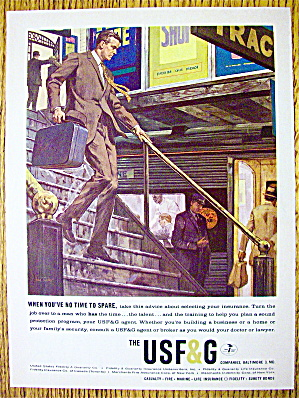 1963 Usf & G Company With Man Walking Downstairs
