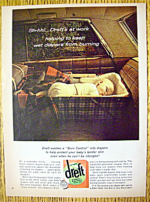 1964 Dreft Detergent with Baby Sleeping In Car (Image1)