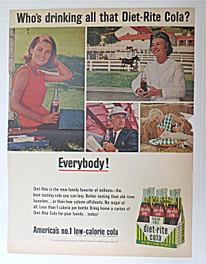 1960's Diet Rite Cola with 4 Different People  (Image1)