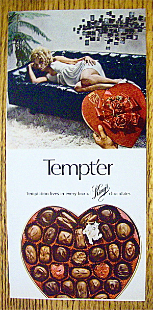 1969 King's Tempter Chocolates With Lovely Woman