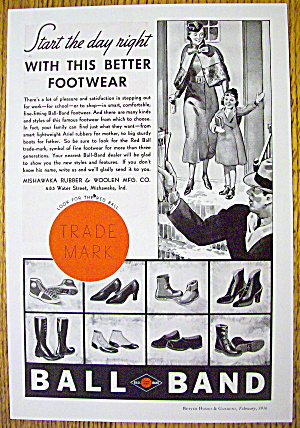 1936 Ball Band Footwear with Woman and Child (Image1)