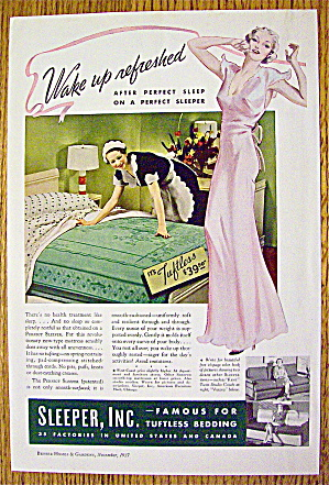 1937 Perfect Sleeper With Maid Fixing Bed