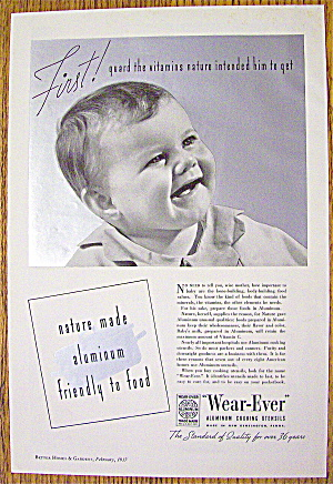 1937 Wear Ever Cooking Utensils with Baby Smiling (Image1)