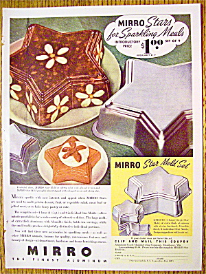 1937 Mirro Star Mold Set with Jell-O Molds (Image1)
