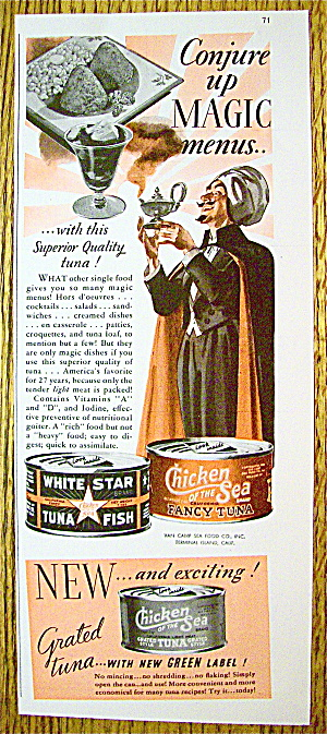 1939 Chicken Of The Sea Tuna With Magician