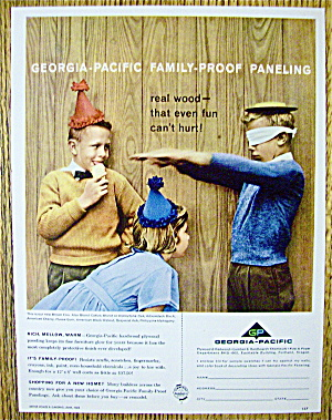 1960 Georgia Pacific Paneling with Kids At A Party (Image1)
