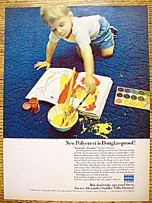 1965 Polycrest Carpeting with Boy Spilling Paint On Rug (Image1)