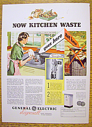 1936 General Electric Disposal w/ Woman Scrapping Plate (Image1)