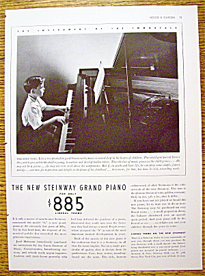 1936 Steinway Grand Piano W/ Boy Playing Piano