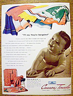 1941 Cannon Towels with Baby On Towel (Image1)