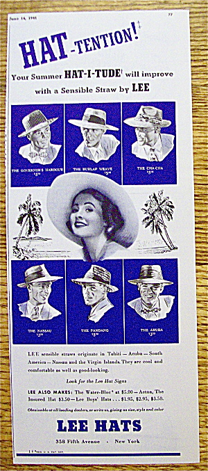 1941 Lee Hats with Sensible Straw Hats (Image1)