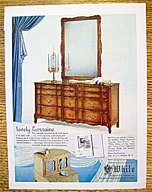 1954 White Furniture With Lovely Lorraine