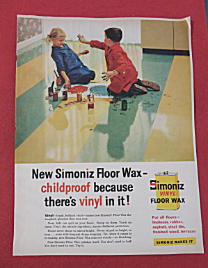 1958 Simoniz Floor Wax with Kids Playing With Bubbles (Image1)