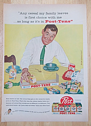 Vintage Ad: 1958 Post Tens Cereal By Dick Sargent