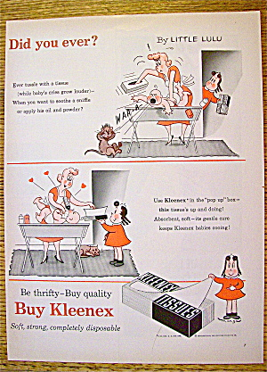 1954 Kleenex Tissues with Little LuLu (Image1)