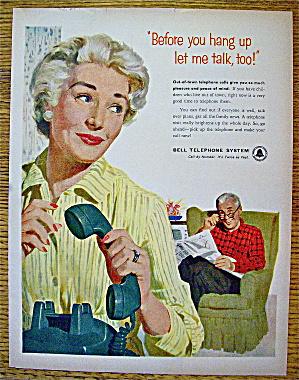 1958 Bell Telephone with Woman Hanging Up Telephone (Image1)