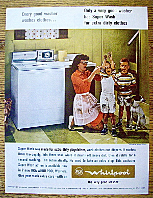 1964 RCA Whirlpool Washer with Woman & 2 Dirty Boys (Image1)