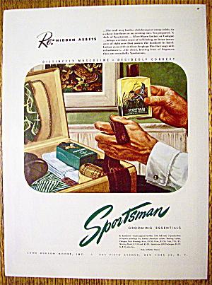 1946 Sportsman Shaving Lotion In Man's Hand (Image1)