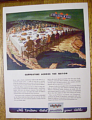 1946 Wilson And Company With Suppertime Across Nation