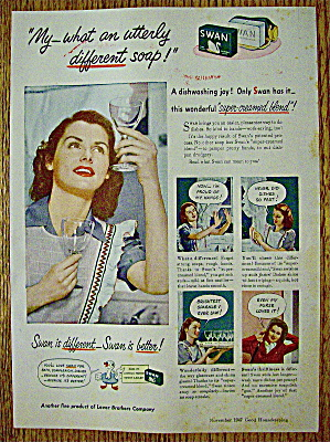 1947 Swan Soap With Woman Looking At Glasses (Image1)