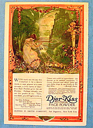 1918 Djer Kiss Face Powder with Girl Pulling Strings (Image1)