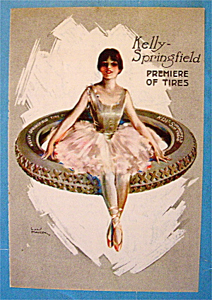 1918 Kelly Springfield Tires W/ballerina On Tire