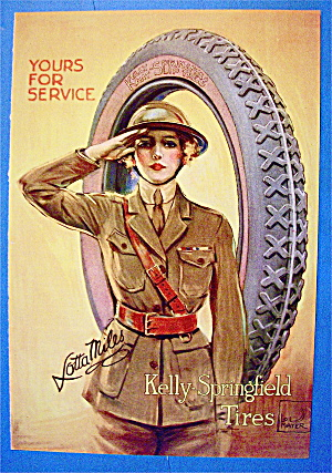 1919 Kelly Springfield Tires with Woman Soldier (Image1)