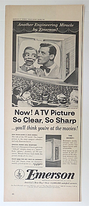 1950's Emerson Television w Paul Winchell & Mahoney (Image1)