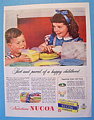 1945 Nucoa OleoMargarine with Children with Bread (Image1)