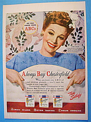 1945 Chesterfield Cigarettes with Signe Hasso (Image1)