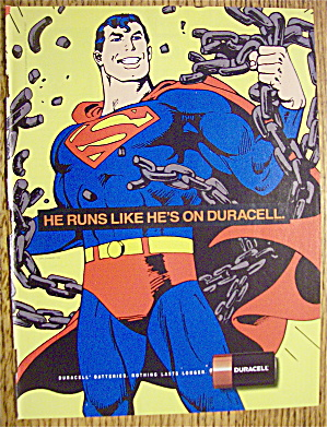 1992 Duracell Batteries With Superman