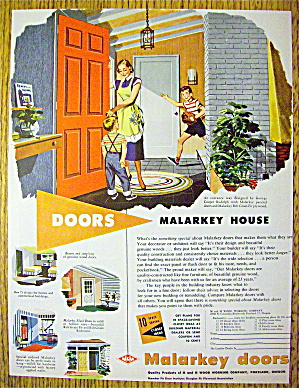 1952 Malarkey Doors With Woman & Children