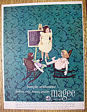1952 Magee Carpets with Girl Playing with Her Dolls (Image1)