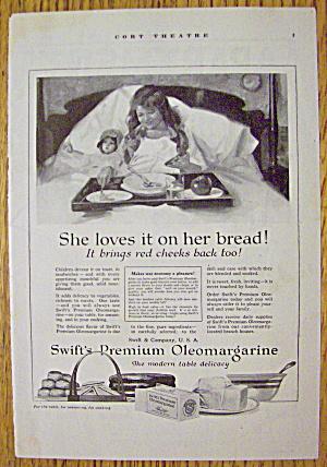 1918 Swift's Premium Oleomargarine with Girl In Bed (Image1)