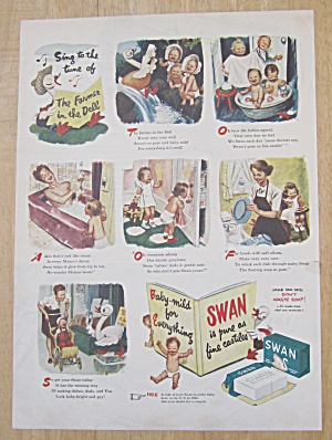 1945 Swan Soap With The Farmer In The Dell