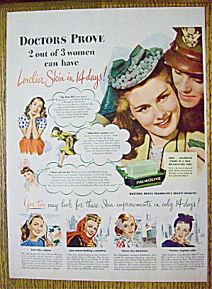 1945 Palmolive Soap With Soldier & Woman