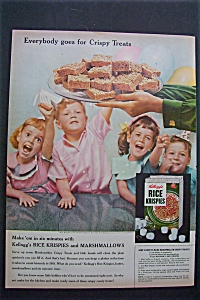 1955 Kellogg's Rice Krispies Cereal W/krispies Treats