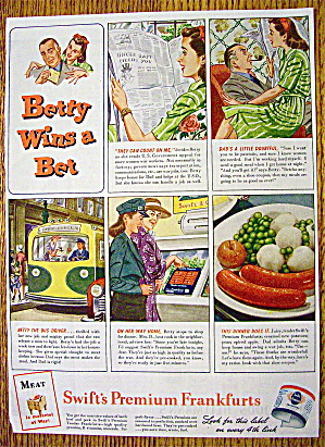 1944 Swift's Premium Frankfurts with Betty Wins A Bet (Image1)