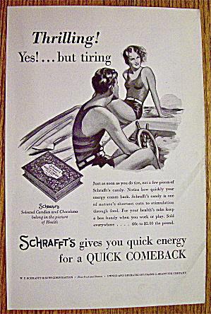 1932 Schrafft's Candies & Chocolates w/Woman & Man (Image1)