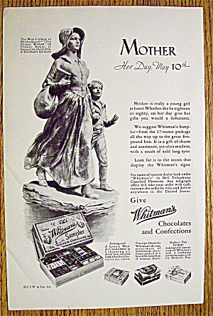1932 Whitman's Chocolates W/boy Walking With Mother